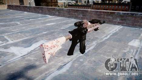 Automatic rifle Colt M4A1 cereza blososm para GTA 4 segundos de pantalla