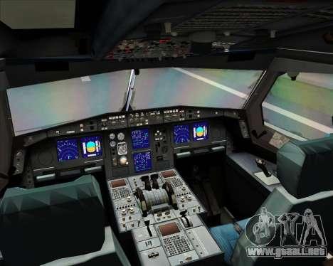 Airbus A330-300 Full White Livery para vista lateral GTA San Andreas