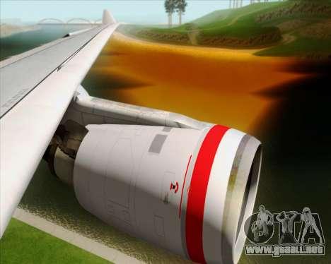 Airbus A330-200 Virgin Australia para GTA San Andreas interior
