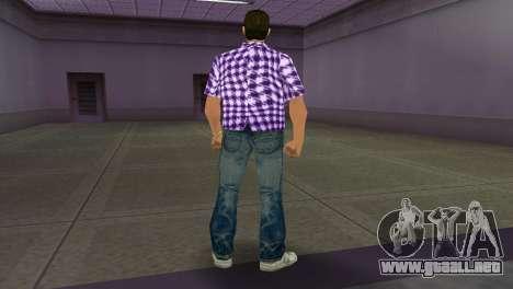 Kockas polo - lila T-Shirt para GTA Vice City tercera pantalla