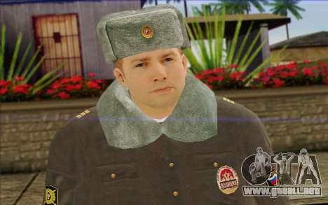 La policía rusa de la Piel 4 para GTA San Andreas tercera pantalla