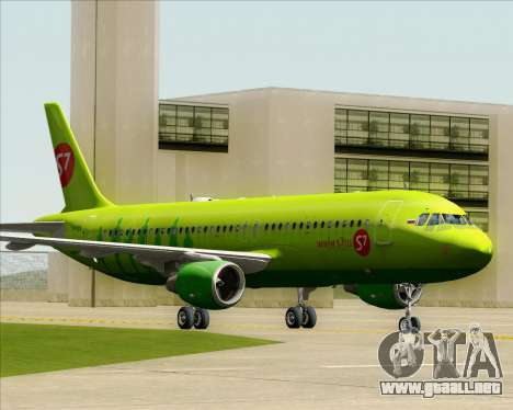 Airbus A320-214 S7-Siberia Airlines para GTA San Andreas left