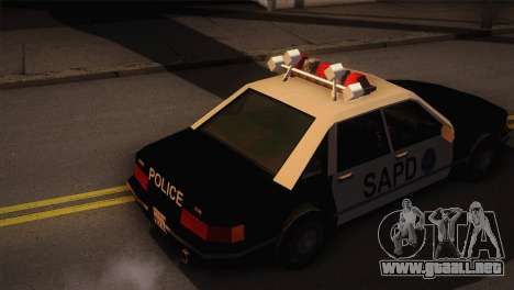 GTA 3 Police Car para GTA San Andreas vista posterior izquierda