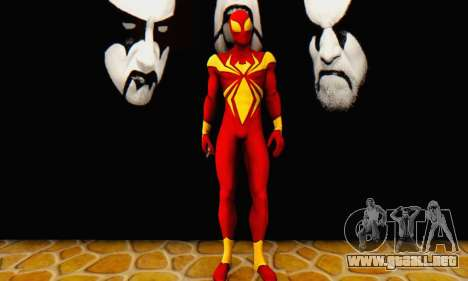 Skin The Amazing Spider Man 2 - DLC Iron Spider para GTA San Andreas segunda pantalla