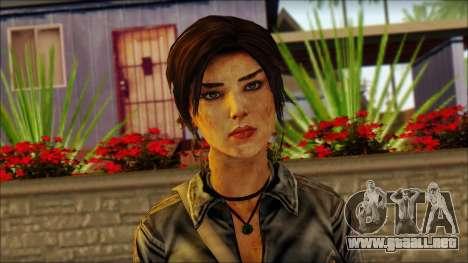 Tomb Raider Skin 3 2013 para GTA San Andreas tercera pantalla