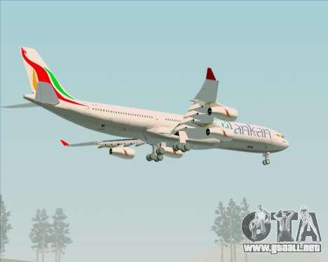 Airbus A340-313 SriLankan Airlines para las ruedas de GTA San Andreas