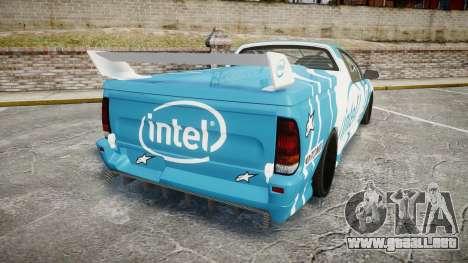 Ford Falcon XR8 Racing para GTA 4 Vista posterior izquierda
