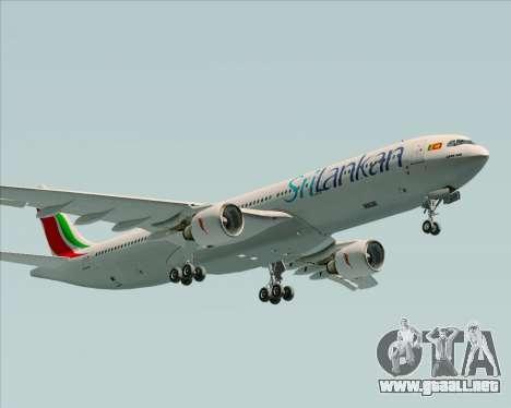 Airbus A330-300 SriLankan Airlines para visión interna GTA San Andreas
