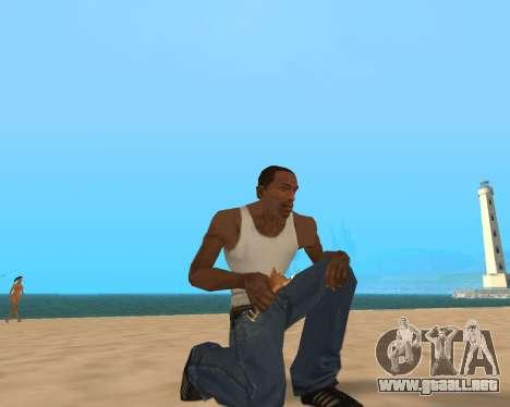 En el aire! para GTA San Andreas sucesivamente de pantalla