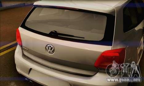 Volkswagen Polo GTi 2011 para visión interna GTA San Andreas