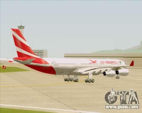 Airbus A340-312 Air Mauritius para la visión correcta GTA San Andreas