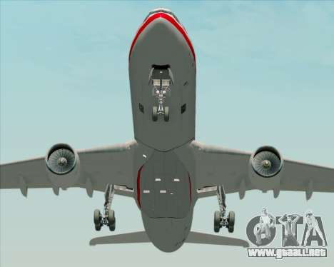 Airbus A330-300 LTU International para visión interna GTA San Andreas