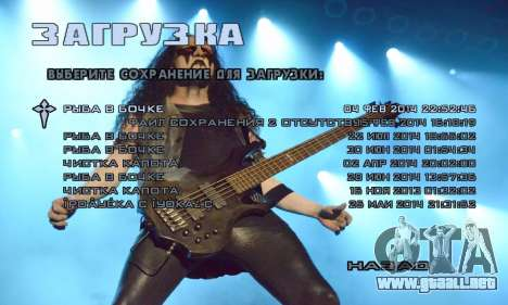 Metal Menu - Immortal (Live) para GTA San Andreas segunda pantalla