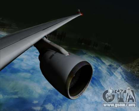 Airbus A330-300 Cathay Pacific para vista inferior GTA San Andreas