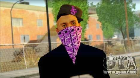 East Side Ballas Skin 2 para GTA San Andreas tercera pantalla