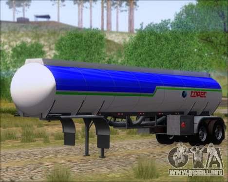 Remolque tanque Carro Copec para la visión correcta GTA San Andreas