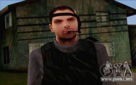 Reynolds from ArmA II: PMC para GTA San Andreas tercera pantalla