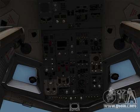 Boeing 737-86N Garuda Indonesia para vista inferior GTA San Andreas