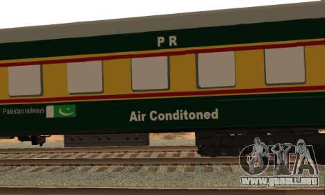 Pakistan Railways Train para visión interna GTA San Andreas