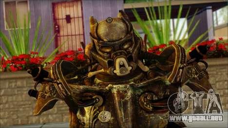 Enclave Tesla Soldier from Fallout 3 para GTA San Andreas tercera pantalla
