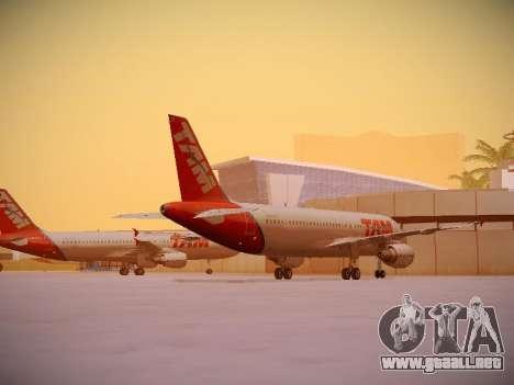 Airbus A320-214 TAM Airlines para la visión correcta GTA San Andreas