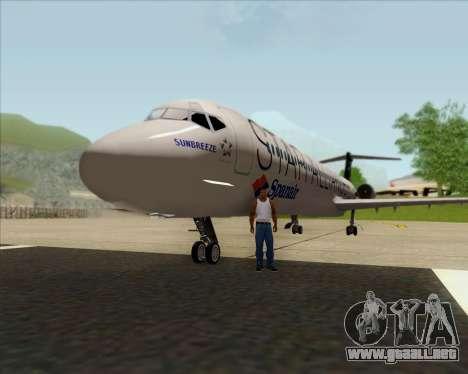 McDonnell Douglas MD-82 Spanair para visión interna GTA San Andreas