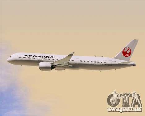 Airbus A350-941 Japan Airlines para la vista superior GTA San Andreas