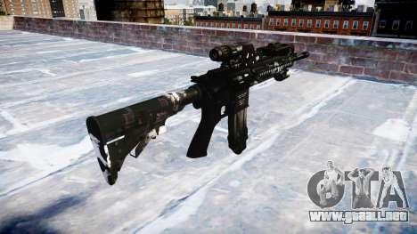 Automatic rifle Colt M4A1 fantasmas para GTA 4 segundos de pantalla
