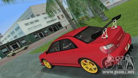 Subaru Impreza WRX 2002 Type 4 para GTA Vice City visión correcta
