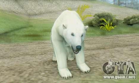 Polar Bear (Mammal) para GTA San Andreas tercera pantalla