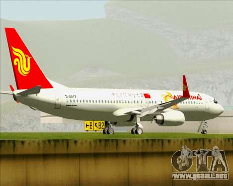 Boeing 737-89L Air China para las ruedas de GTA San Andreas
