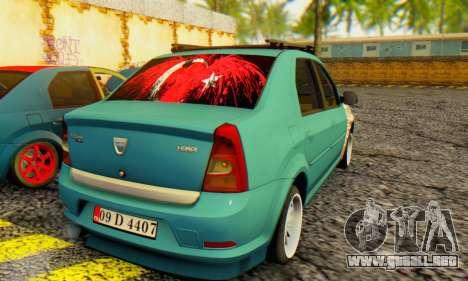 Dacia Logan 1.6 MPI Tuning para GTA San Andreas vista posterior izquierda