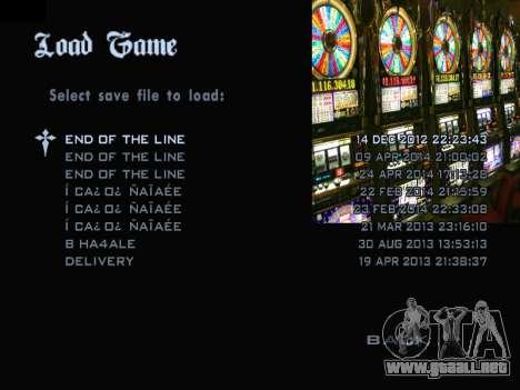 Menu Gambling para GTA San Andreas tercera pantalla