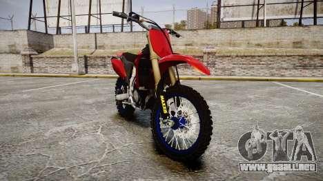 Yamaha YZF-450 Custom para GTA 4