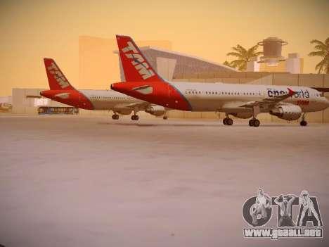 Airbus A320-214 TAM Oneworld para la visión correcta GTA San Andreas