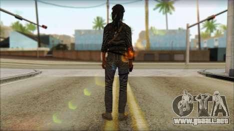 Tomb Raider Skin 3 2013 para GTA San Andreas segunda pantalla