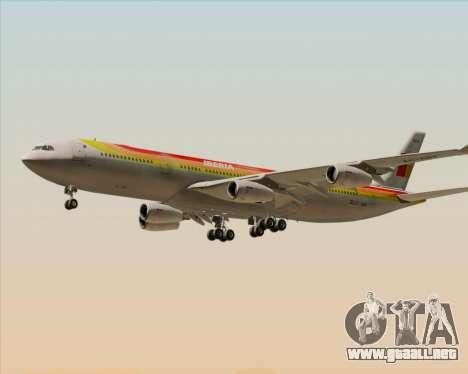 Airbus A340 -313 Iberia para vista inferior GTA San Andreas