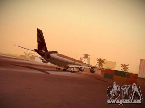 Airbus A340-600 Qatar Airways para GTA San Andreas vista posterior izquierda