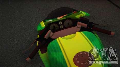 Bati RR 801 Sprunk para GTA San Andreas vista posterior izquierda
