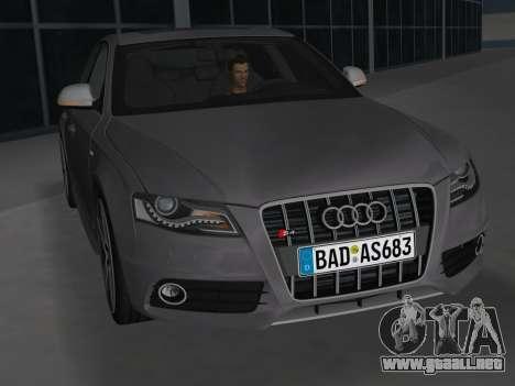 Audi S4 (B8) 2010 - Metallischen para GTA Vice City vista interior