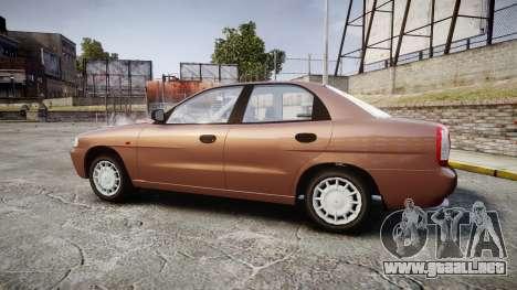 Daewoo Nubira I Sedan S PL 1997 para GTA 4 left