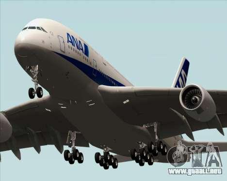 Airbus A380-800 All Nippon Airways (ANA) para GTA San Andreas vista posterior izquierda