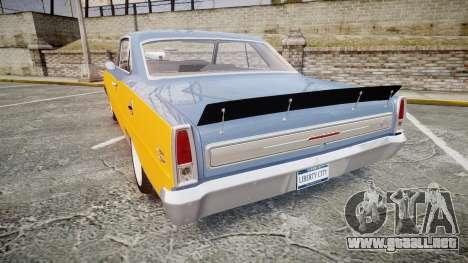 Chevrolet II Nova SS 1966 Custom [EPM] PJ1 para GTA 4 Vista posterior izquierda