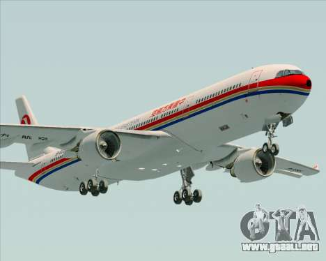 Airbus A330-300 China Eastern Airlines para visión interna GTA San Andreas