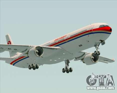Airbus A330-300 China Eastern Airlines para visión interna GTA San Andreas