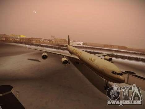 Airbus A340-600 Etihad Airways para GTA San Andreas left