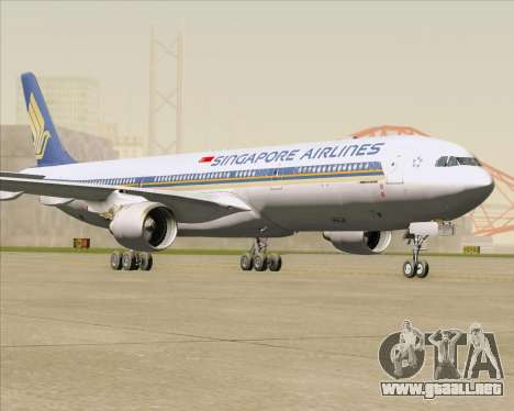 Airbus A330-300 Singapore Airlines para GTA San Andreas left