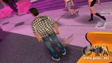 Kockas polo - barna T-Shirt para GTA Vice City tercera pantalla
