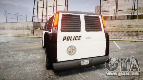 Declasse Burrito Police para GTA 4 Vista posterior izquierda