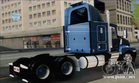 Kenworth T600 para GTA San Andreas left
